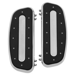 Kuryakyn Heavy Industry Driver Floorboards Pair For Harley-Davidson Chrome 7041 Unpainted