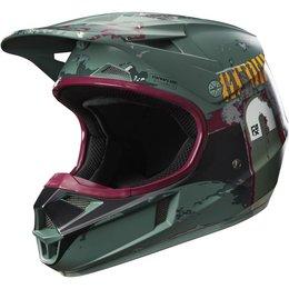 Fox Racing Youth Officially Licensed Limited Edition V1 Boba Fett MX Helmet Green