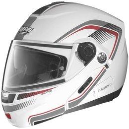 Metal White, Red, Anthracite Nolan Mens N91 N-com Revenge Modular Helmet 2014 Metal White Red Anth