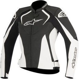 Alpinestars Womens Stella Jaws Armored Leather Riding Jacket Black
