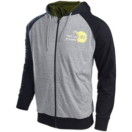 Troy Lee Designs Mens Doubles Cotton Blend Zip Up Hoodie Grey