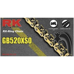 RK Chain GB 520 O O-Ring 118 Links Gold Gold