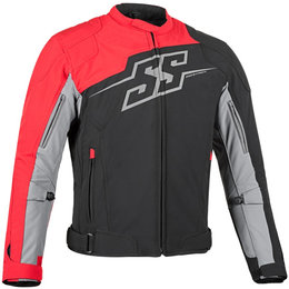 Speed & Strength Mens Hammer Down Textile Jacket Red
