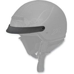 Matte Black Z1r Replacement Visor For Nomad Half Helmet