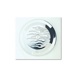 Joker Machine Insert For Round Air Cleaner Flame Chrome H-D Twin Cam 1999-2012