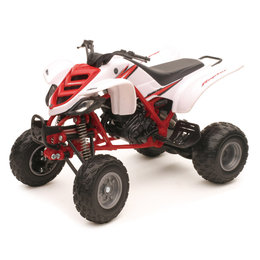 New Ray Toys 1:12 Scale Yamaha Raptor 660R ATV Toy White Red 42923 White