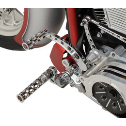 Battistinis C-Thru Round Hole Forward Controls Harley Touring Chrome 07-596 Unpainted
