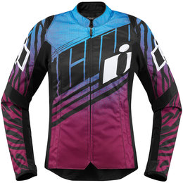 Icon Womens Overlord SB2 Wild Child Textile Jacket Purple