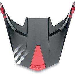 Black, Red Thor Replacement Visor Kit For 2010 Quadrant Helmet Black Red