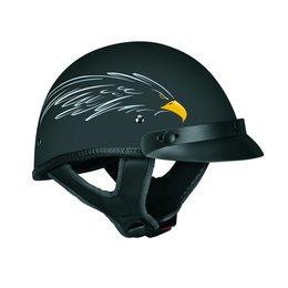 Flat Black Vega Mens Xts Eagle Half Helmet 2014