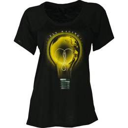Black Fly Racing Womens Bright Idea Flowy Fit Scoop Neck T-shirt 2015