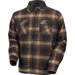 RSD Mens Stoddard Long Sleeve Plaid Cotton Flannel Shirt Brown