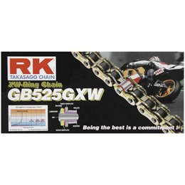 RK Chain GB 525 GXW XW-Ring 116 Links Gold