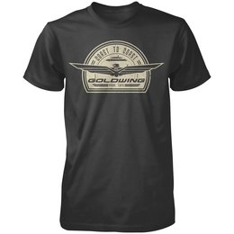 Black Honda Mens Goldwing Retro T-shirt 2013