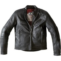 Spidi Sport Mens Road Runner Armored Leather Jacket Black