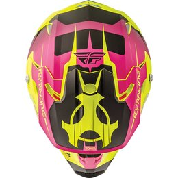 Fly Racing Toxin Graphic MX Helmet Yellow