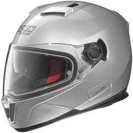 Platinum Silver Nolan Mens N86 N-com Full Face Helmet 2014