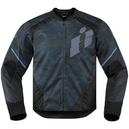 Icon Mens Overlord Primary Armored Textile Jacket Black