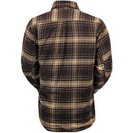 RSD Mens Stoddard Long Sleeve Plaid Cotton Flannel Shirt Brown