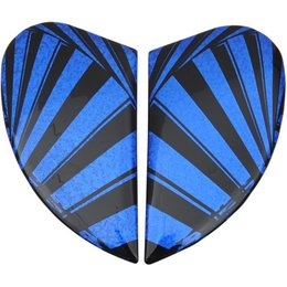 Blue Icon Replacement Side Plate Kit For Airmada Spaztyk Full Face Helmet
