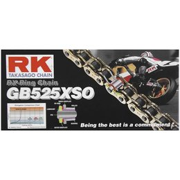 RK Chain GB 525 O O-Ring 120 Links Gold