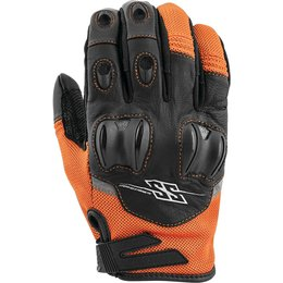 Speed & Strength Mens Power And The Glory Leather Riding Gloves Orange