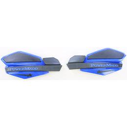 Powermadd Star Series Snowmobile Handguards Pair Blue And Black Universal 34204 Black
