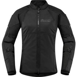 Icon Womens Automag 2 Stealth Textile Jacket Black