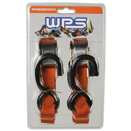 WPS Tiedowns 1 Inch X 68 Inch 2 Pack Orange Universal