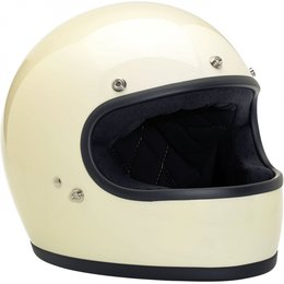Gloss White Biltwell Mens Gringo Full Face Helmet 2014