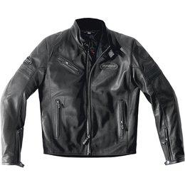 Spidi Sport Mens Ace Armored Leather Jacket Black