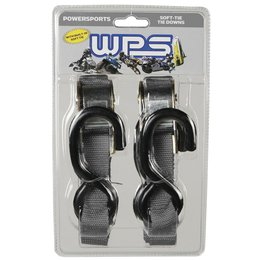 WPS Tiedowns With Soft Ties 1 Inch X 68 Inch 2 Pack Black Universal