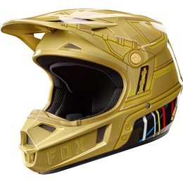 Fox Racing Youth Officially Licensed Limited Edition V1 C-3PO MX Helmet Gold
