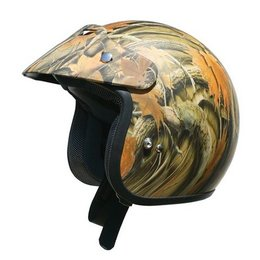 AFX FX-75 FX75 Camo Open Face Helmet Brown