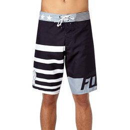 Fox Racing Mens Red White And True Boardshorts Black