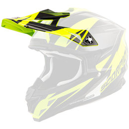Scorpion VX-35 Krush Replacement Visor Peak MX/Offroad Helmet Accessory Yellow