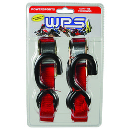 WPS Tiedowns With Soft Ties 1 Inch X 68 Inch 2 Pack Red Universal