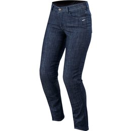 Alpinestars Womens Stella Courtney Armored Denim Riding Pants Blue