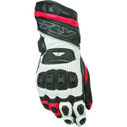 White, Red Fly Racing Mens Fl-2 Gauntlet Leather Gloves 2015 White Red