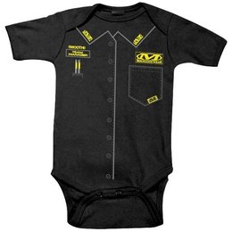 Black Smooth Industries Infant Boys Mechanix Wear One Piece Bodysuit 2013 12-18m