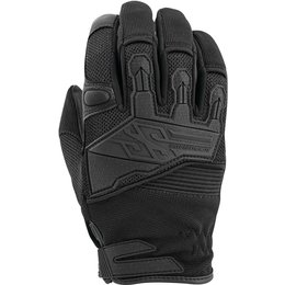 Speed & Strength Mens Hammer Down Leather Riding Gloves Black
