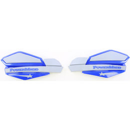 Powermadd Star Series Snowmobile Handguards Pair Blue And Silver Universal 34231 Blue