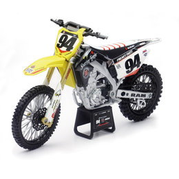 New Ray Toys 1:12 Scale Ken Roczen RCH Suzuki RM-Z450 Dirt Bike Toy 57747 Yellow