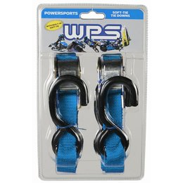 WPS Tiedowns With Soft Ties 1 Inch X 68 Inch 2 Pack Blue Universal