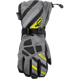 Arctiva Mens Ravine Insulated Textile Snowmobile Gloves Grey