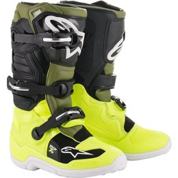 Alpinestars Youth Boys Tech 7S MX Motocross Offroad Riding Boots Yellow
