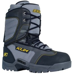 Klim Mens Radium GTX Leather Gore-Tex Insulated Snowmobile Boots Grey