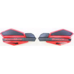 Powermadd Star Series Snow Handguards Pair Honda Red And Black Universal 34231 Red