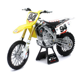 New Ray Toys 1:6 Scale Ken Roczen RCH Suzuki RM-Z450 Dirt Bike Toy 49523 Yellow
