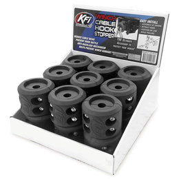 KFI Winch Cable Hook Stopper 18-Pack BOX-SCH Black